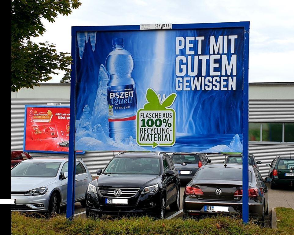 Romina-Kampagne Petcycle PET Flaschen mit 100 Prozent Rezyklat 2019 2020