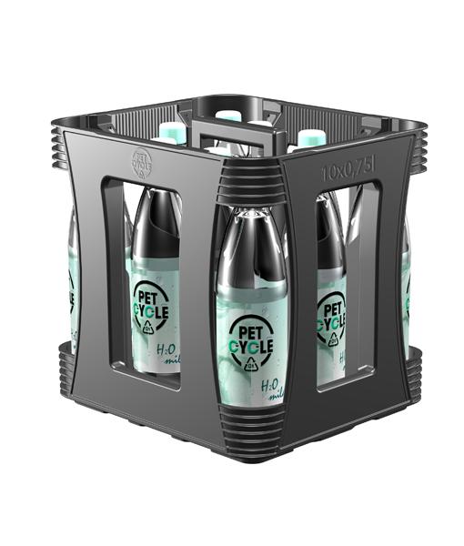 Petcycle Poolkasten für Mineralwasser und Erfrischungsgetränke 10 x 0,75 Liter