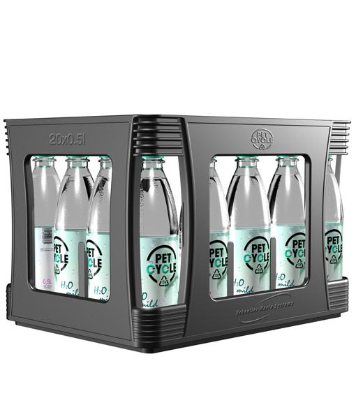 Petcycle Poolkasten für Mineralwasser und Erfrischungsgetränke 20 x 0,5 Liter