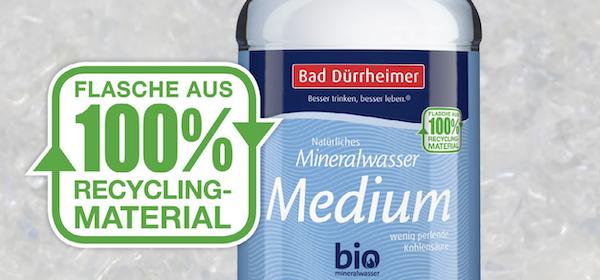 Bad Duerrheimer Initiative Mineralwasser 100 Prozent Rezyklat