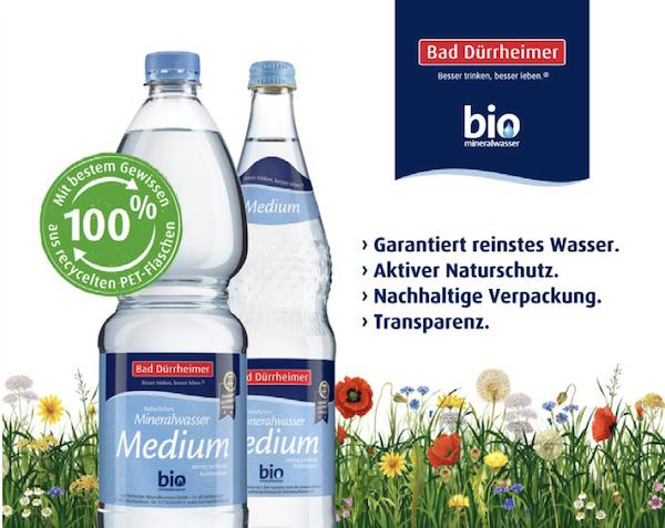 Bad Duerrheimer Mineralwasser 100 Prozent Recycling Material Kreislauf