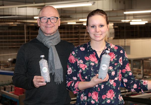 Bad Duerrheimer PET Mineralwasser Flasche 100 Prozent Rezyklat Interview Ulrich Loessl Tanja Klemens 04